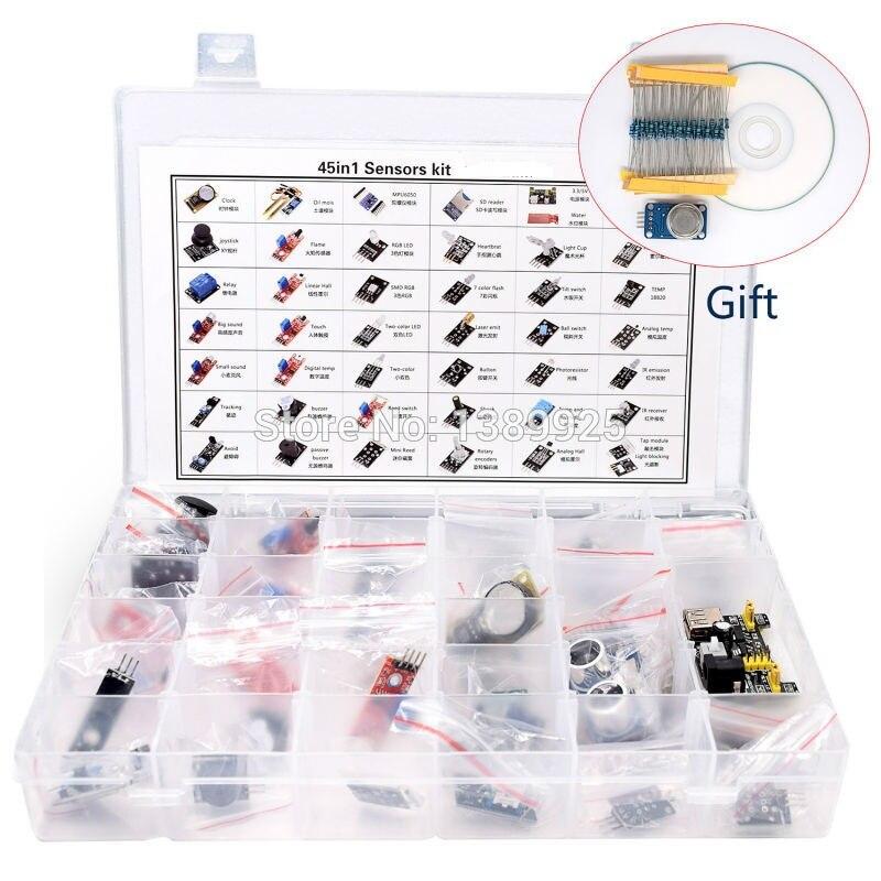 High-quality 45 In 1 Sensors Modules Starter Kit, Better Than 37-in-1 Sensor Kit