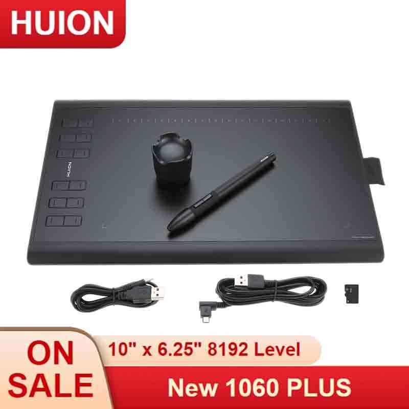 Huion dessin graphique tablette Art planche à dessin tablette d'écriture électronique avec Micro USB 8G TF carte 12 clés stylo numérique