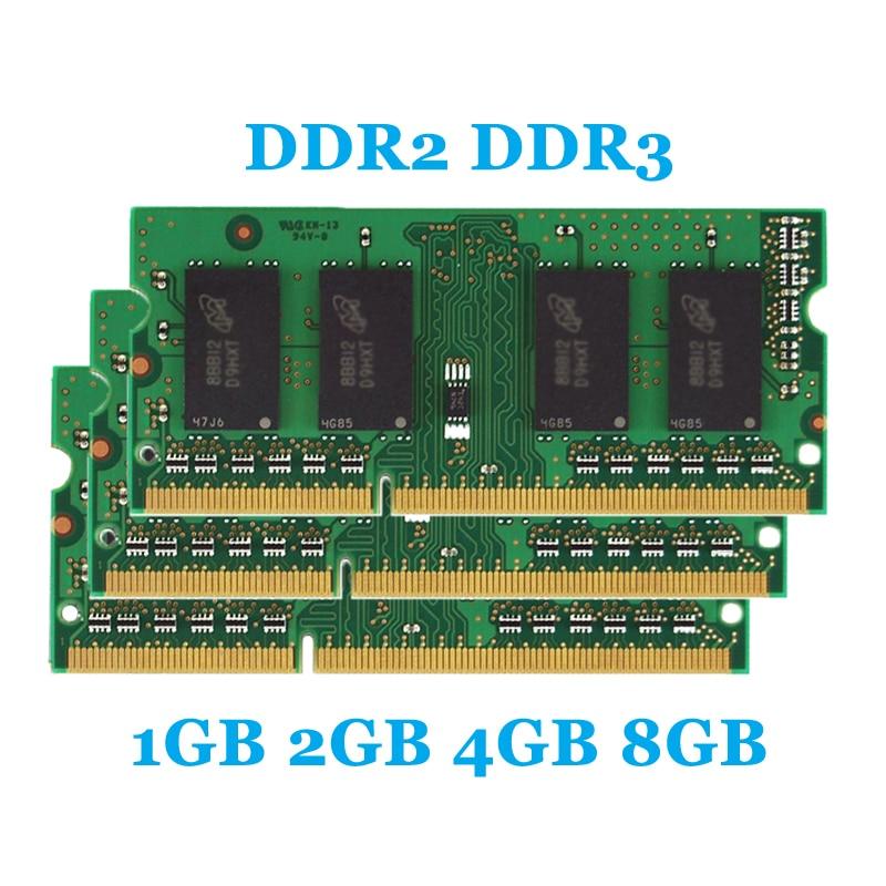 Brand SunDigit Laptop Memory Ram DDR2 533MHz 667MHz 800MHz DDR3 1333MHz 1600Mhz 8GB 4GB 2GB 1GB for Notebook Sodimm Memoria