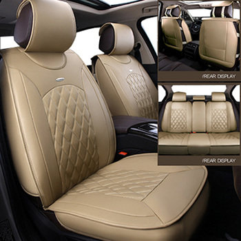 (front+back)Universal leather car seat covers for Lada 110 111 112 Kalina Niva Vesta XRAY Granta car accessories car styling