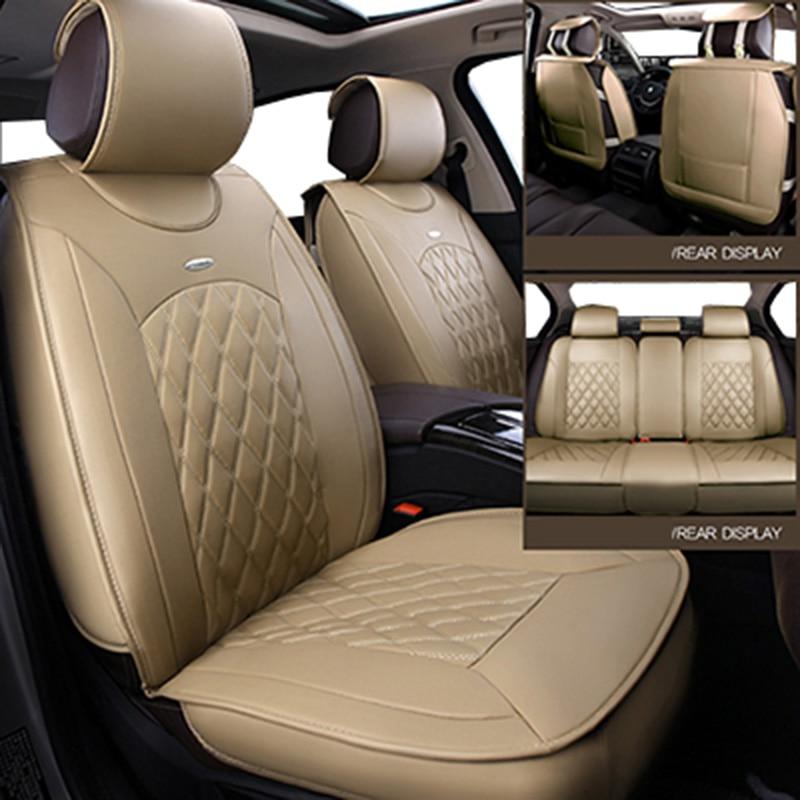 (voor + Achter) Universele Lederen Auto Stoelhoezen Voor Lada 110 111 112 Kalina Niva Vesta Xray Granta Auto-accessoires Auto Styling Druppel Droog