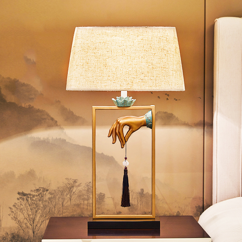 Modern Hand Hold Hanging Panicle Table Lamps Lights Desk Bedside Standard Lighting Living Room Lamparas de Mesa 110-240V