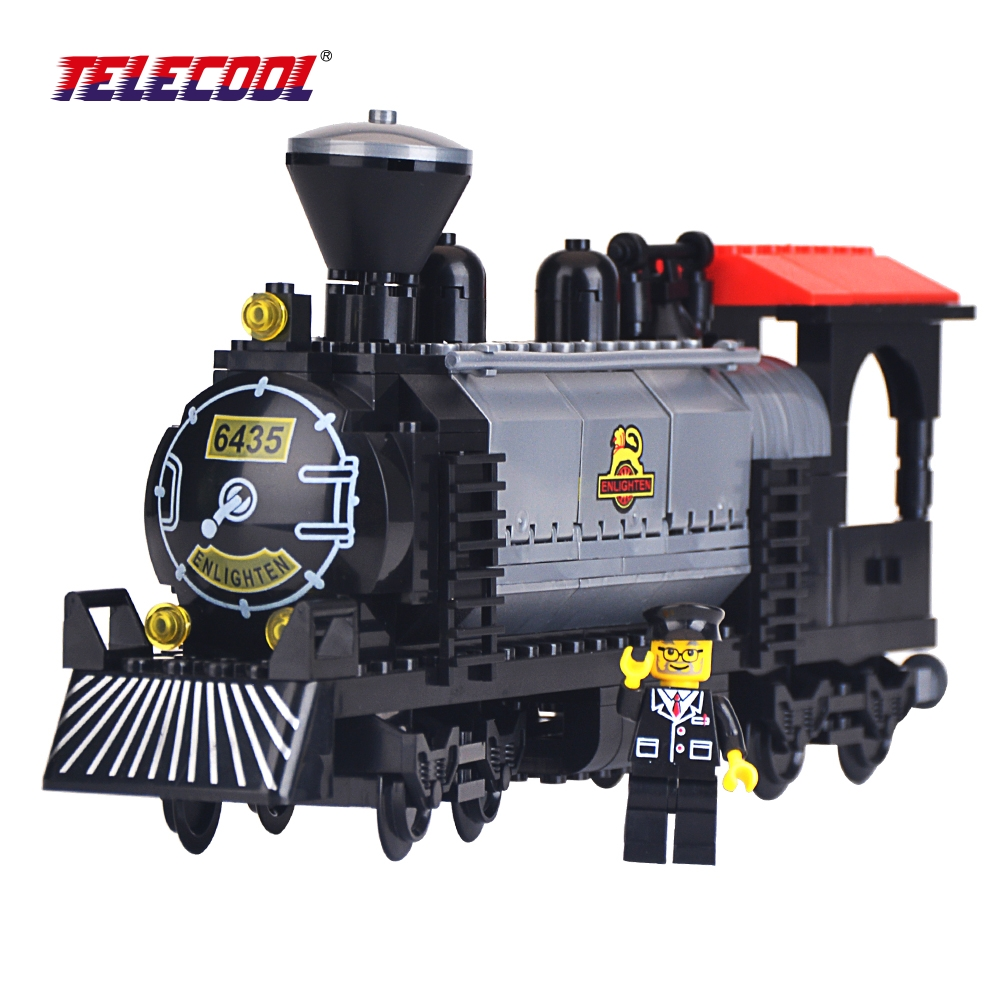 TELECOOL 224 PCS Heavy - Duty Large Steam Engine Compatible with Lepin 631 Building Blocks Brick Kid Toys Gift in the pvc BOX lepin 02012 city deepwater exploration vessel 60095 building blocks policeman toys children compatible with lego gift kid sets