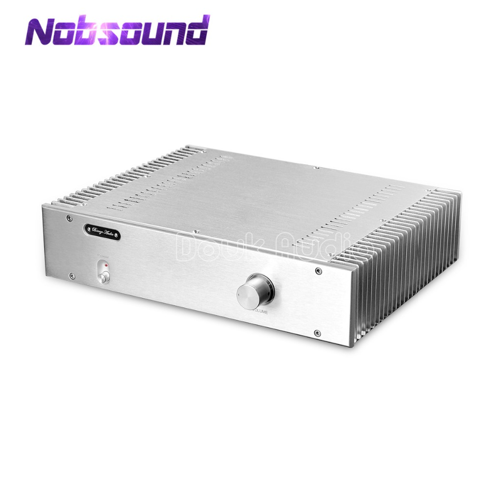 Nobsound Hi-End Power Amplifier 2.0 Channel Stereo HiFi Amplifier Reference Burmester 933 Amplifier Circuit 130W*2 creative cartoon dinosaur pattern wall sticker for children s bedroom decoration