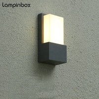 Outdoor Waterproof Wall Lamp Modern Aluminum Lamp 10W LED IP65 Exterior Light Outdoor Corridor Hallway Balcony Wall Lamps LP 002