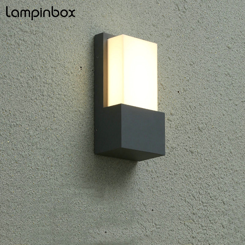 Outdoor Waterproof Wall Lamp Modern Aluminum Lamp 10W LED IP65 Exterior Light Outdoor Corridor Hallway Balcony Wall Lamps LP-002 cob square led outdoor wall lamp nordic contemporary and contracted wall lamp corridor lamp exterior balcony wall lamp