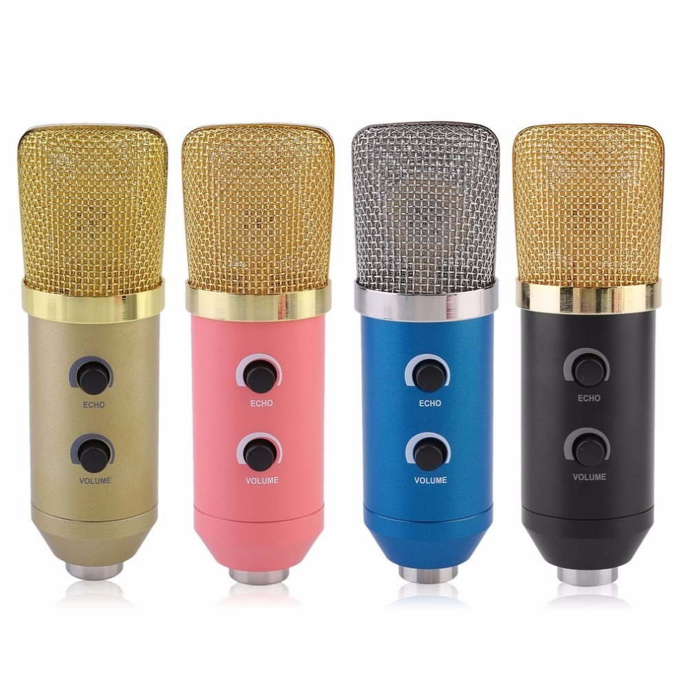 professional usb condenser microphone with tripod for video recording karaoke radio studio. Black Bedroom Furniture Sets. Home Design Ideas