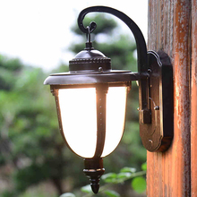 Retro outdoor wall lamp vintage foyer corridor aisle light waterproof balcony garden lighting fixtures WCS-OWL008 antique rustic iron waterproof outdoor wall lamp vintage kerosene lantern light rusty matte black corridor hallway wall light