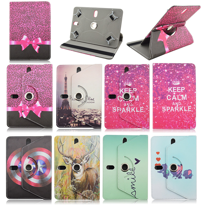 Rotating Leather Case 7.0inch For Alcatel One Touch T10/Pixi 7 3G 7 inch Universal Tablet Cover For Alcatel 7.0 inch Tablet Bag