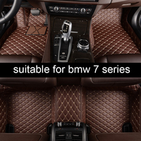 lsrtw2017 leather car floor mat for BMW 7 series E65 F01 F02 G11 e38 740 750 760 730 interior accessories rug carpet styling