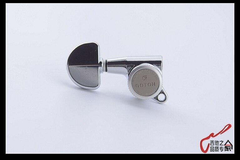 Echte Originele L3 + R3 GOTOH SG381 20 MGT Gitaar Vergrendeling Machine Heads Tuners (Chrome) MADE IN JAPAN - 3