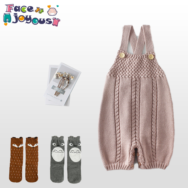 Knit Baby Clothes Autumn Knitted Baby Rompers New Born Infant Baby Overalls Woolen Newborn Girls Boys Jumpsuit Baby Boy Clothes