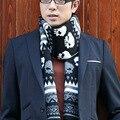 2016The nueva Corea del Sur los hombres del cráneo bufandas de cachemira bufandas de lana cálido otoño e invierno gruesa bufanda de punto al por mayor