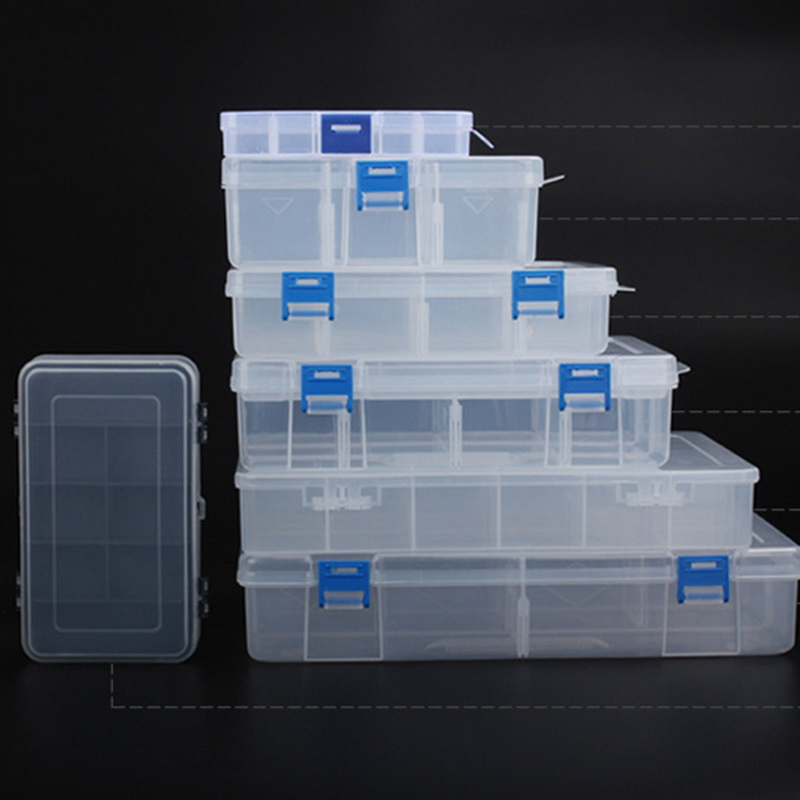 Junejour Components Storage Boxes Jewelry Plastic Home Tool Boxes Adjustable Parts Storage Organizer Screw Finishing Ring Cases