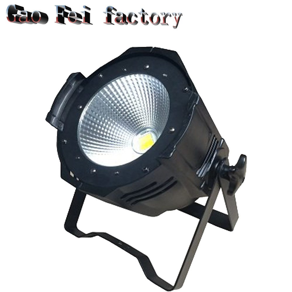 1pcs/lot cob led 2in1 white /warm 100w cob led par can dmx led cob par light for disco stage bar club