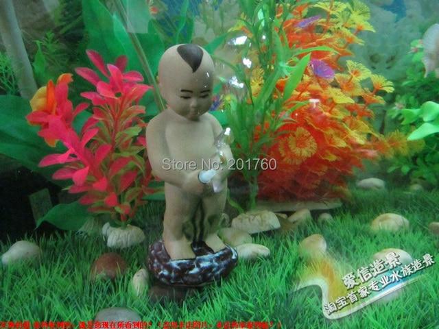Decorations Aquarium Fish Tank Increasing Oxygen Air Pump Ceramic Child Model Free Shipping