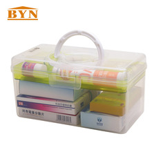 BYN 2 Слои Пластик медицины ящик для хранения прозрачной сетки таблетки Организатор путешествий Портативный косметический закуски случае