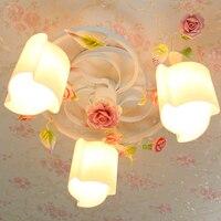 Романтический сад спальня для девочек Детская комната цветок потолочный светильник