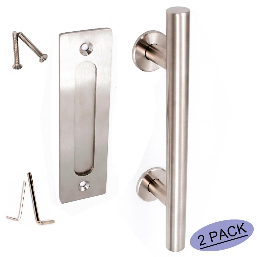 Flush Door Pulls Handles Set LS08BSN Brushed Nickel ...
