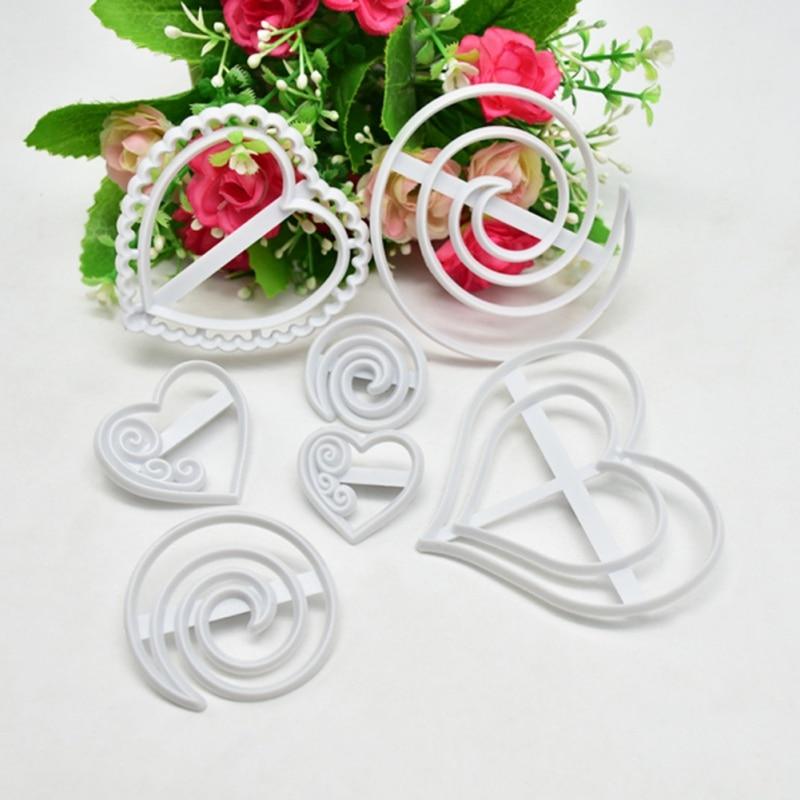 DIY Baking Mold Heart-shaped Lollipop Type Mousse Cake Decoration Mold Kitchen Tool Cake mold heart-shaped lollipop type