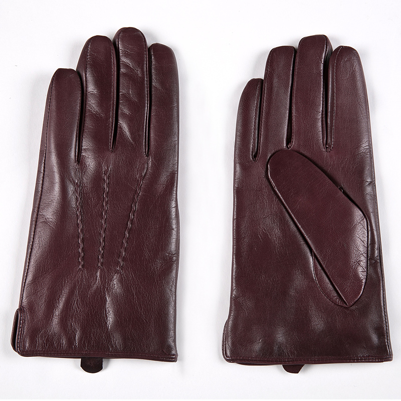 Image 4 - Gours Winter Genuine Leather Gloves Men New Brand Black Fashion Warm Driving Gloves Goatskin Mittens Guantes Luvas GSM015-in Men's Gloves from Apparel Accessories