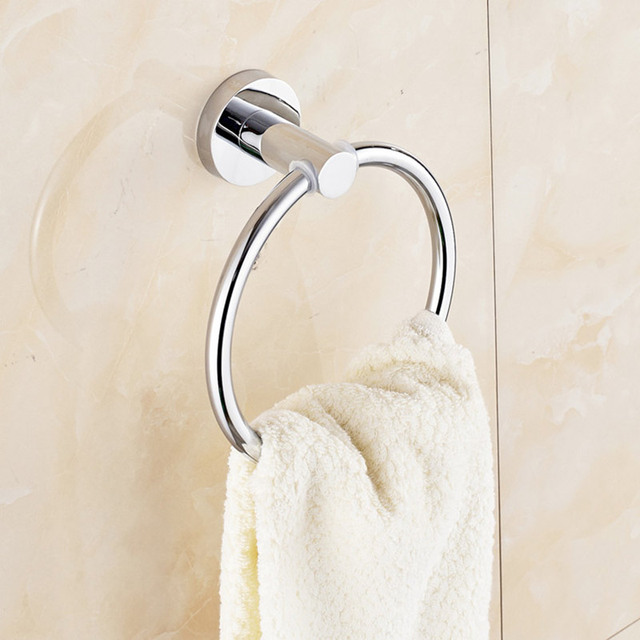 Aliexpress.com : Buy Simple Towel Ring Stainless Steel Wall Mount ...