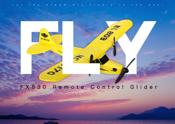 FX803  2.4G RC drone helicopter two way remote control glider foam glider EPP fixed-wing remote control aircraft