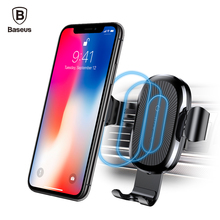 Baseus Car Holder Qi Wireless Charger For iPhone Samsung S9 Plus Mobile Phone 10W Fast