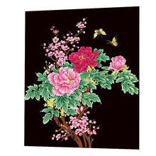 WONZOM Peony Oil Painting By Numbers DIY Abstract Flower Digital Picture Coloring On Canvas Unique Gift For Home 2017