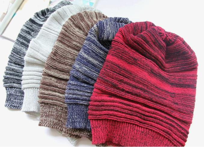 36664ec0c10d2 Bulk Hats 36pcs Knitted Slouch Hat Mens Oversized Beanie Winter Stripe Beanies  Hats Women Slouchy Knit Caps Ladies Fall Skullcap