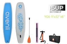 $ Number pies de YOGA de Surf a bordo Stand up paddle board SUP Inflable Tabla de Surf incluyen remo bomba inflación bolsa de parche de reparación