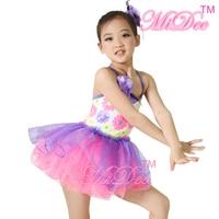 Kızlar Bale Tutu Modern Bale Dans Kostümleri Rekabet Elbiseler Çocuklar Parti Düğün Çiçek Elbiseler