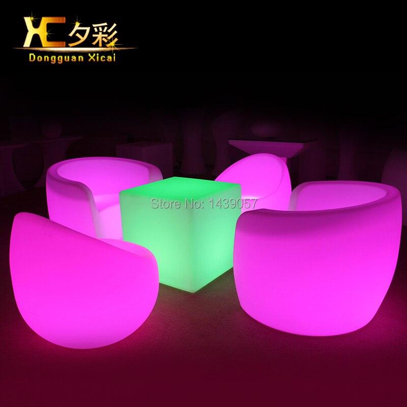 Led Luminous Bar Chair Plastic Color Changing Club Back Rest ...