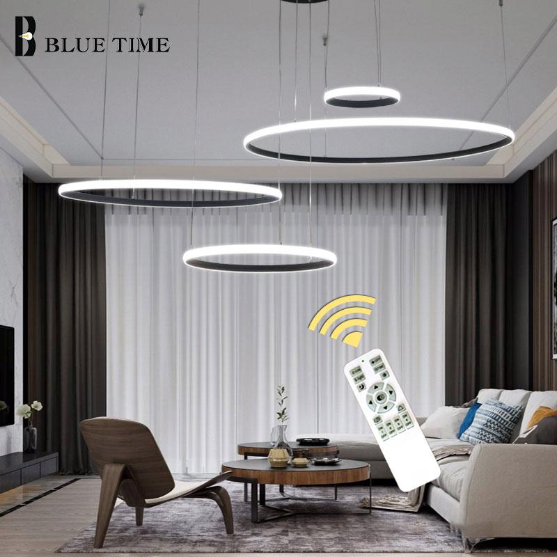 Lustre moderno LEVOU Para Cozinha sala de estar Quarto sala de Jantar Levou Anéis de Lustres de Teto Luminárias Lustre