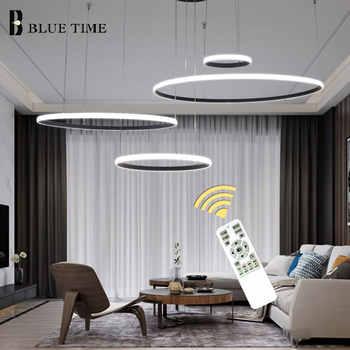 LED moderne lustre pour cuisine salon chambre salle à manger LED Lustres anneaux plafond lustre luminaires