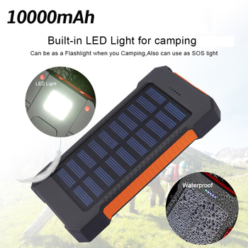 100% New 10000mAh Portable Solar Power Bank Charger For iPhone 6 6S 7 Plus 8 Dual USB Extend Battery PowerBank for Xiaomi