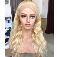 Blonde 613 Full Lace Wigs Human Hair Body Wave Brazilian Remy Human Hair Wigs Baby Hair For Women 130 Density Hand Made Eseewigs