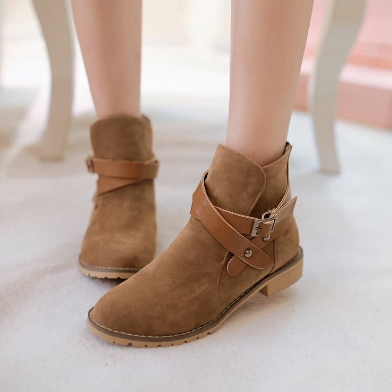 2016 New Retro Style Spring Autumn font b Women b font Ankle Boots Designer Flats Shoes