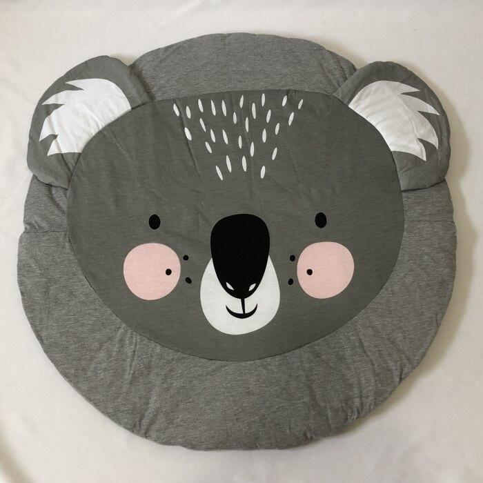 95 см детская игра коврики круглый коврик, мат хлопок Лебедь Ползания одеяло пол ковер для детской комнаты украшения INS подарки для малышей - Цвет: Koala