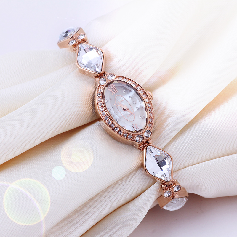 Melissa Luxury Crystal Lady Women's Watch Japan Quartz Top Fashion Dress Bracelet Rhinestone Small Clock Girl's Birthday Gift цена