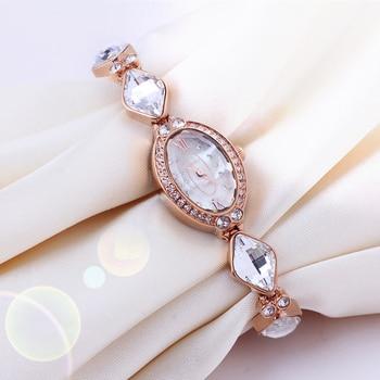 Melissa Luxury Crystal Lady Women's Watch Japan Quartz Top Fashion Dress Bracelet Rhinestone Small Clock Girl's Birthday Gift