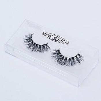 3D Mink Lashes  Packing Natural Thick Crisscross Messy False Eyelashes Pure Handmade Cotton Stalk Fake Eyelashes D11