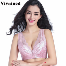 3e50b620e60ab Plus Size Push Up Wire Free Bras Thin Cotton Full Cup Adjustable Vest  Seamless Bras 42 38 40 95 100 46 110 50 C D Free Shipping