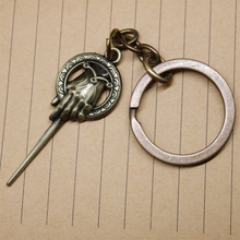 Hand of the King Keychain King's hand Key Ring Key Chain Pins Game of Thrones Accessories A Song of Ice and Fire Fashion Jewelry цена
