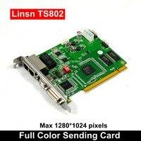 Бесплатная доставка светодио дный Дисплей Управление Системы LINSN TS802D отправки карты, полный Цвет P3 P4 P5 P6 P7.62 P10 светодио дный модуль Управлен