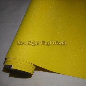 Высокое качество Желтый Блестящий песок Алмазная виниловая наклейка рулон пузырьковый Бесплатный чехол для телефона ноутбука Размер: 1,52*30 ...