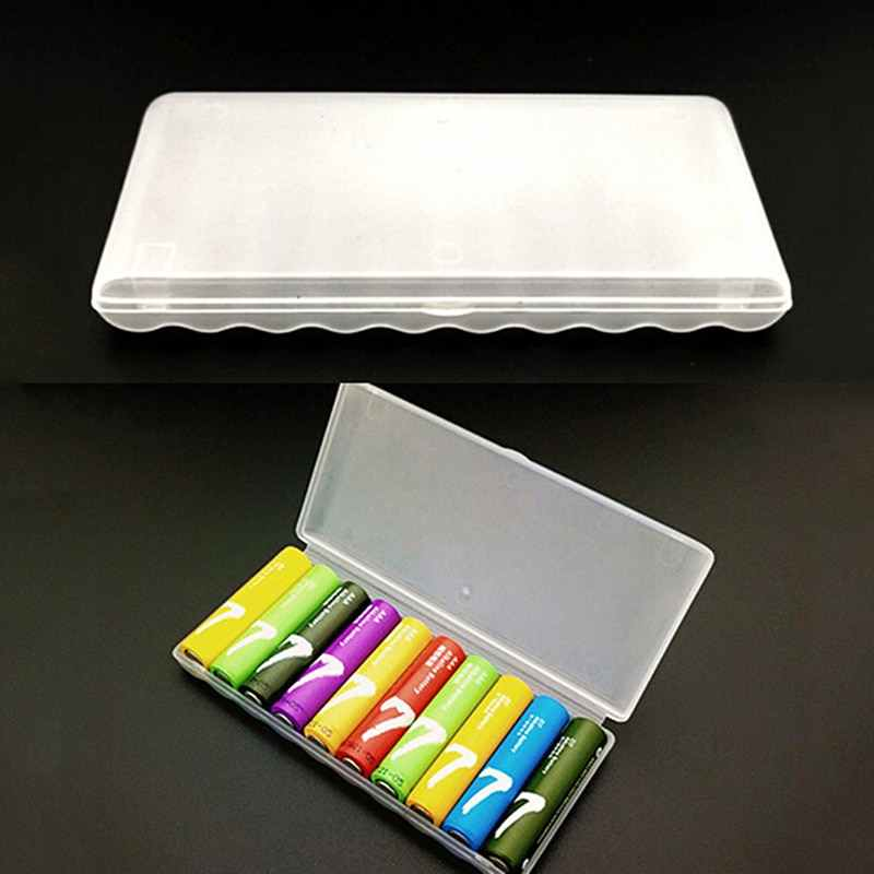 1pcs Portable Plastic Battery Case Cover Holder Storage Box For 10pcs AAA Batteries Storage case for 10pcs AAA battery