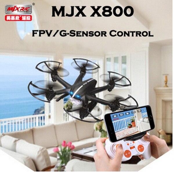 Hot SaleNew Arrival MJX X800 2.4G 6-Axis RC Drone Helicopter Can Add C4005 FPV HD Wifi Camera White & Black  Syma  X5C