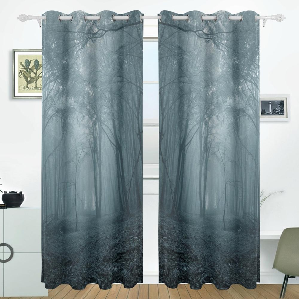 Online buy wholesale glass door curtains from china glass door forest night curtains drapes panels darkening blackout grommet room divider for patio window sliding glass door eventelaan Choice Image
