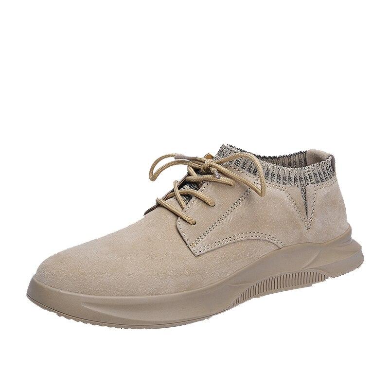 Korean Fashion Leisure England Leather Shoes men Socks European Spring Shoes male breathable sneaker fashion men casual shoes